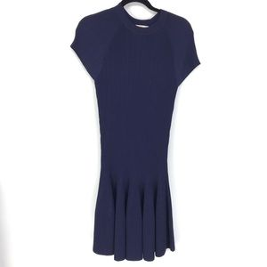 Jonathan Simkhai Sz S Ribbed Knit Dress Blue